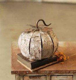 Fleurish Home Medium Boo Birch Pumpkin