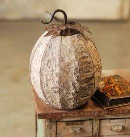 Fleurish Home Large Boo Birch Pumpkin