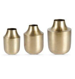 Fleurish Home Brushed Gold Tapered Vase
