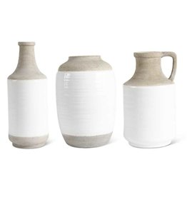 Fleurish Home Shaped Ceramic Vase w White