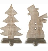 Fleurish Home Wooden Stocking Holder (choice of tree or snowman)