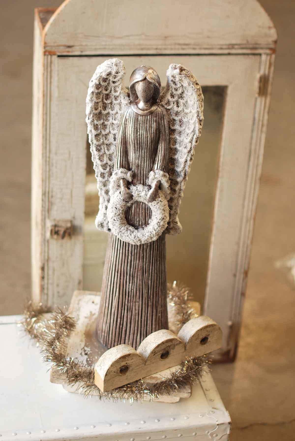 "Fleurish Home Gift Angel Statue 24"""