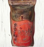 Fleurish Home Slim Red Metal Post Box