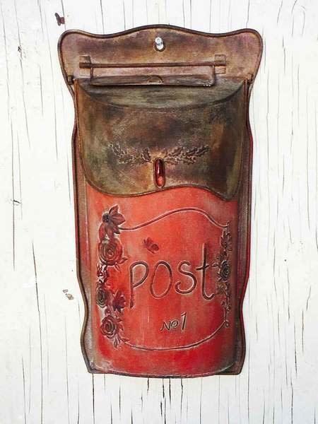 Fleurish Home Slim Red Metal Post Box
