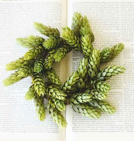 Fleurish Home Small Hops Candle Ring Mini Wreath