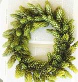 Fleurish Home Medium Hops Candle Ring Mini Wreath