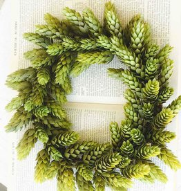 Fleurish Home Medium Hops Candle Ring Mini Wreath
