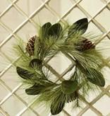 "Fleurish Home Mixed Pine & Magnolia Wreath 18"""