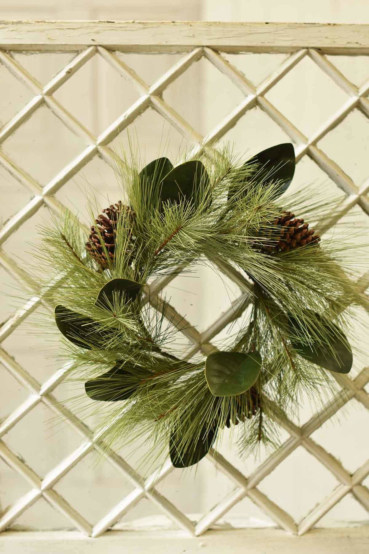 Fleurish Home Mixed Pine & Magnolia Wreath 18""