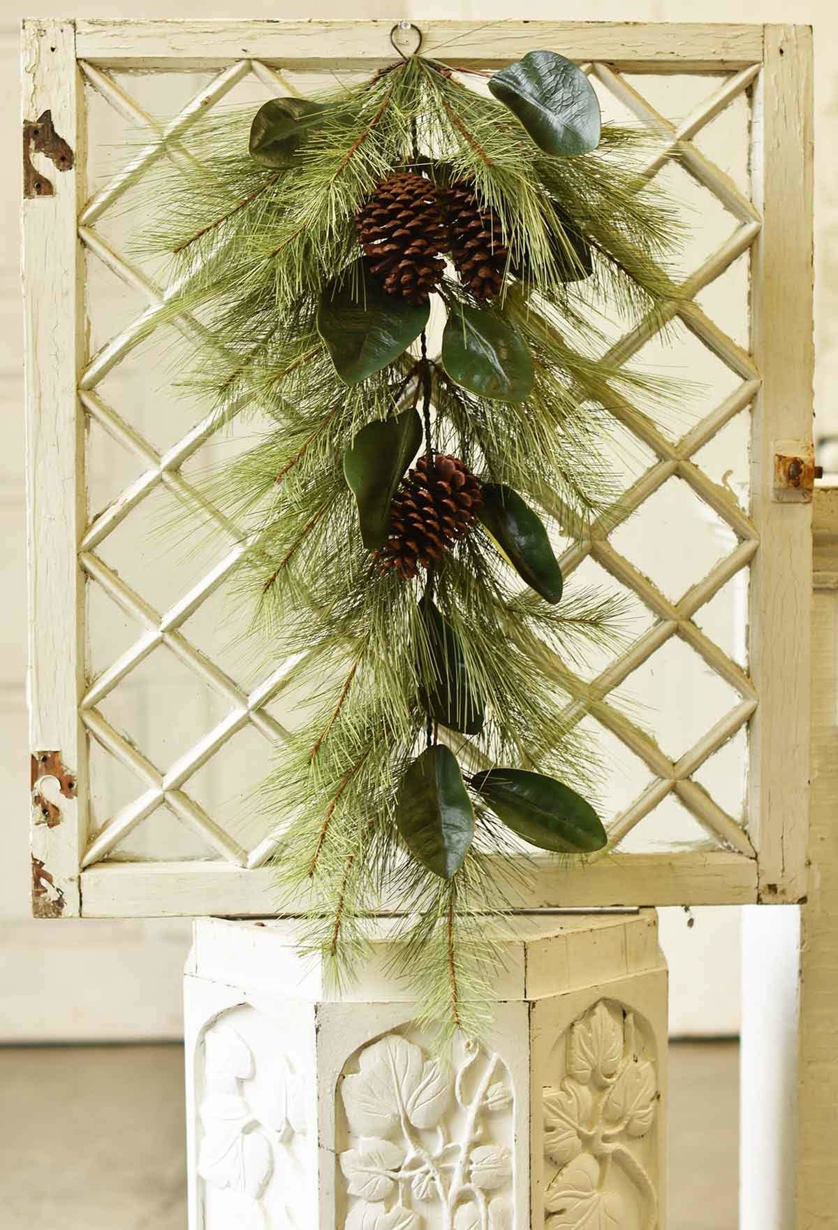 "Fleurish Home Mixed Pine & Magnolia Drop 36"""
