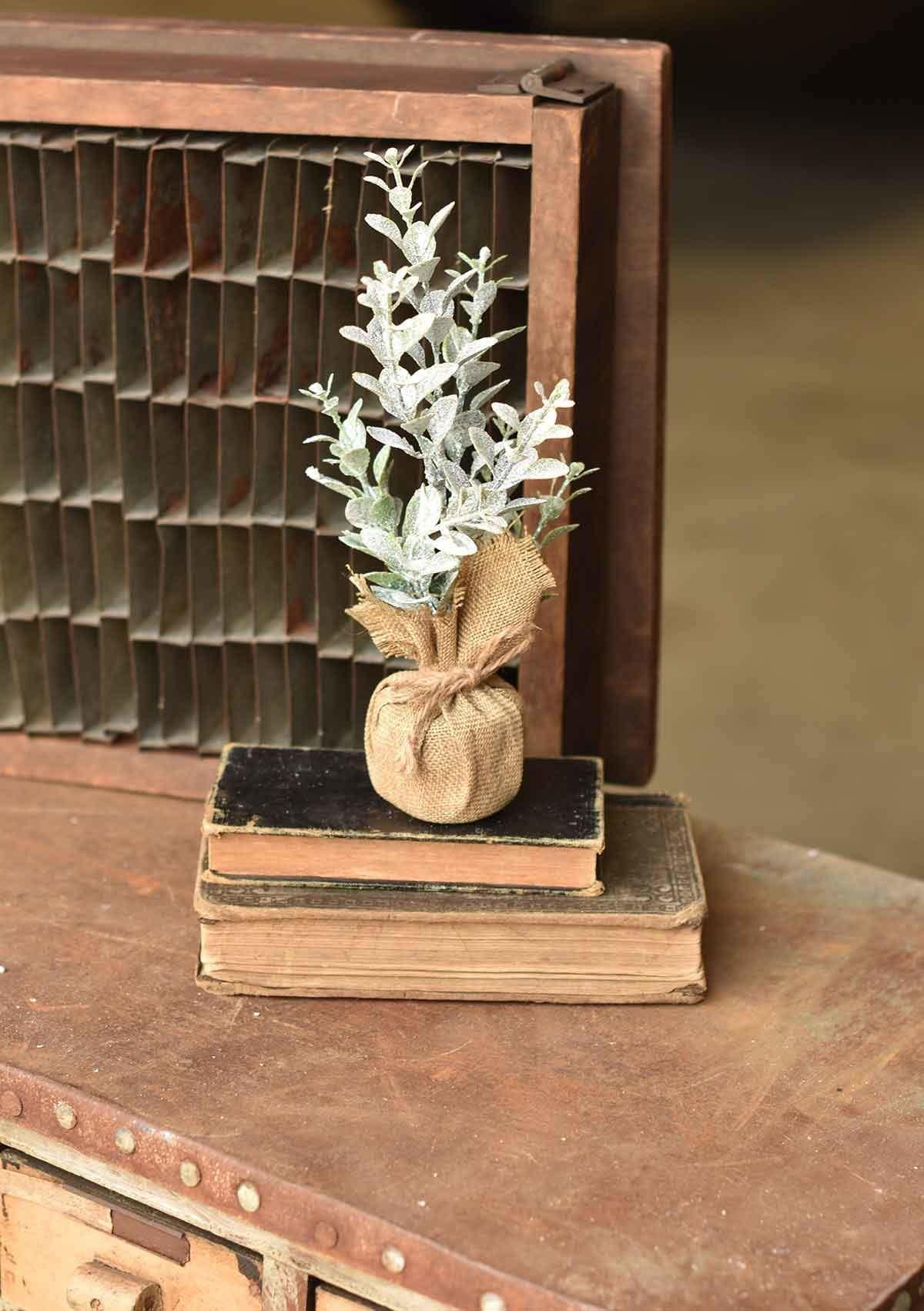 "Fleurish Home Mini Frosty Eucalyptus Tree 10"""