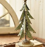 Fleurish Home XL Green Metal Ever-Fir Tree w Star 15""