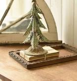 "Fleurish Home Lg Green Metal Ever-Fir Tree w Star 12"""