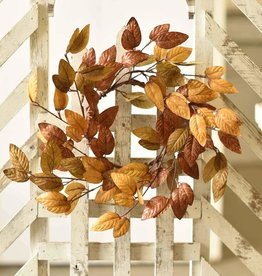 Fleurish Home Small Perfect Fall Leaves Wreath 15""