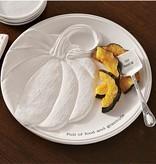 Mudpie Round Pumpkin Platter Set