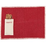 Mudpie MERRY DHURRIE PLACE MAT