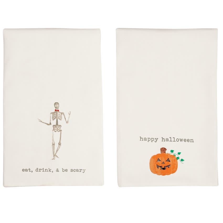 Mudpie JACK-O-LANTERN ICON HAND TOWELS