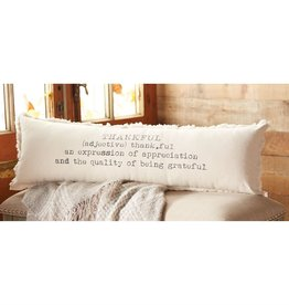 Mudpie Washed Canvas Thankful Definition Pillow
