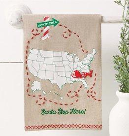 Mudpie Santa Stop Here Towel