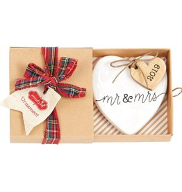 Mudpie 2019 Mr And Mrs Ornament