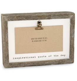Mudpie Inspirational Quote of the Day Frame (Teacher)