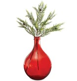 Mudpie Red Carafe Glass Vase