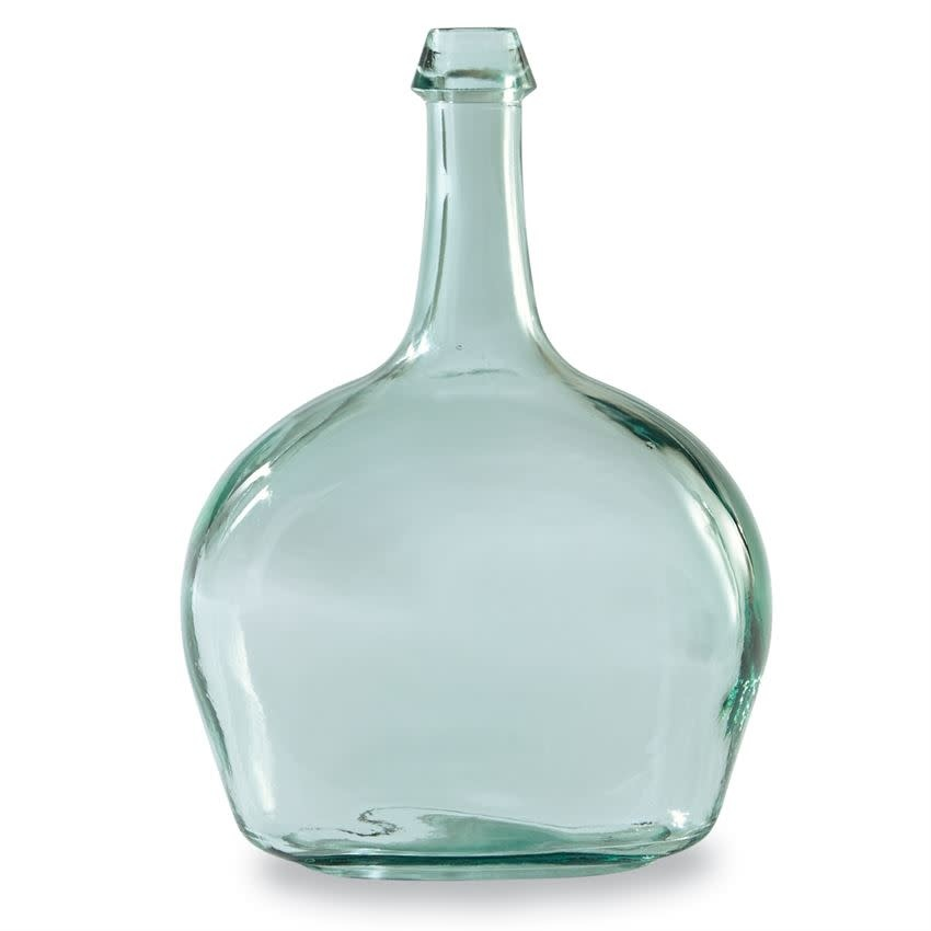 Mudpie CLEAR TALL NECK GLASS VASE