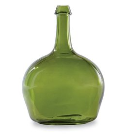 Mudpie GREEN TALL NECK GLASS VASE
