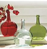 Mudpie GREEN TALL NECK GLASS VASE