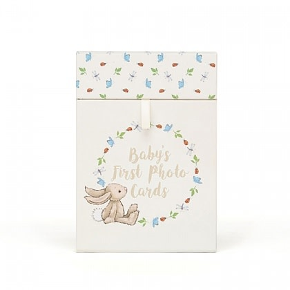 Jellycat Bashful Bunny Baby's First Photo Cards *last chance