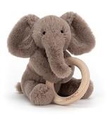 Jellycat Shooshu Elephant Wooden Ring Rattle