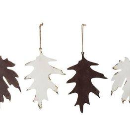 Fleurish Home Metal Leaf Ornament