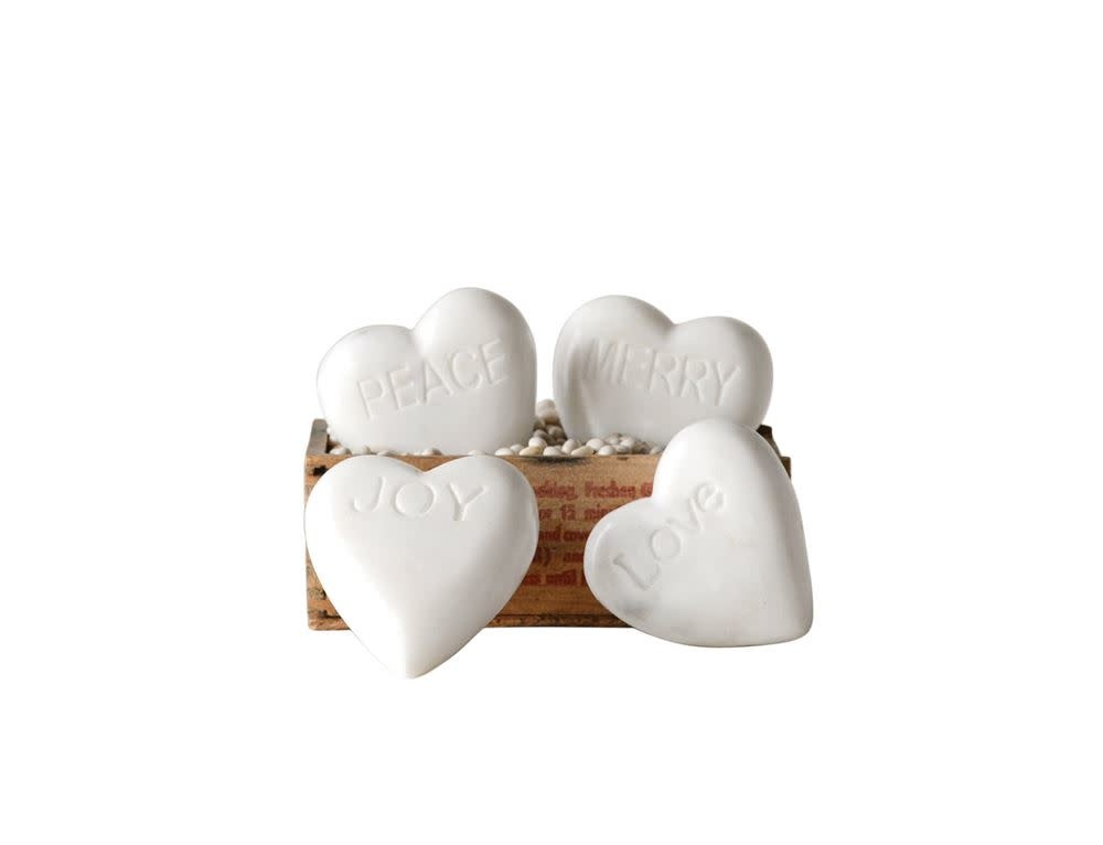 Fleurish Home Marble Heart (choice of 4 quotes)
