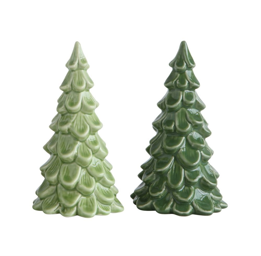"Fleurish Home Sm Green Stoneware Tree 5.5"" (choice of 2 colors)"