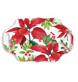Michel Design Works Poinsettia Melamine Serveware Cookie Tray