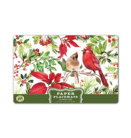 Michel Design Works Poinsettia Paper Placemats