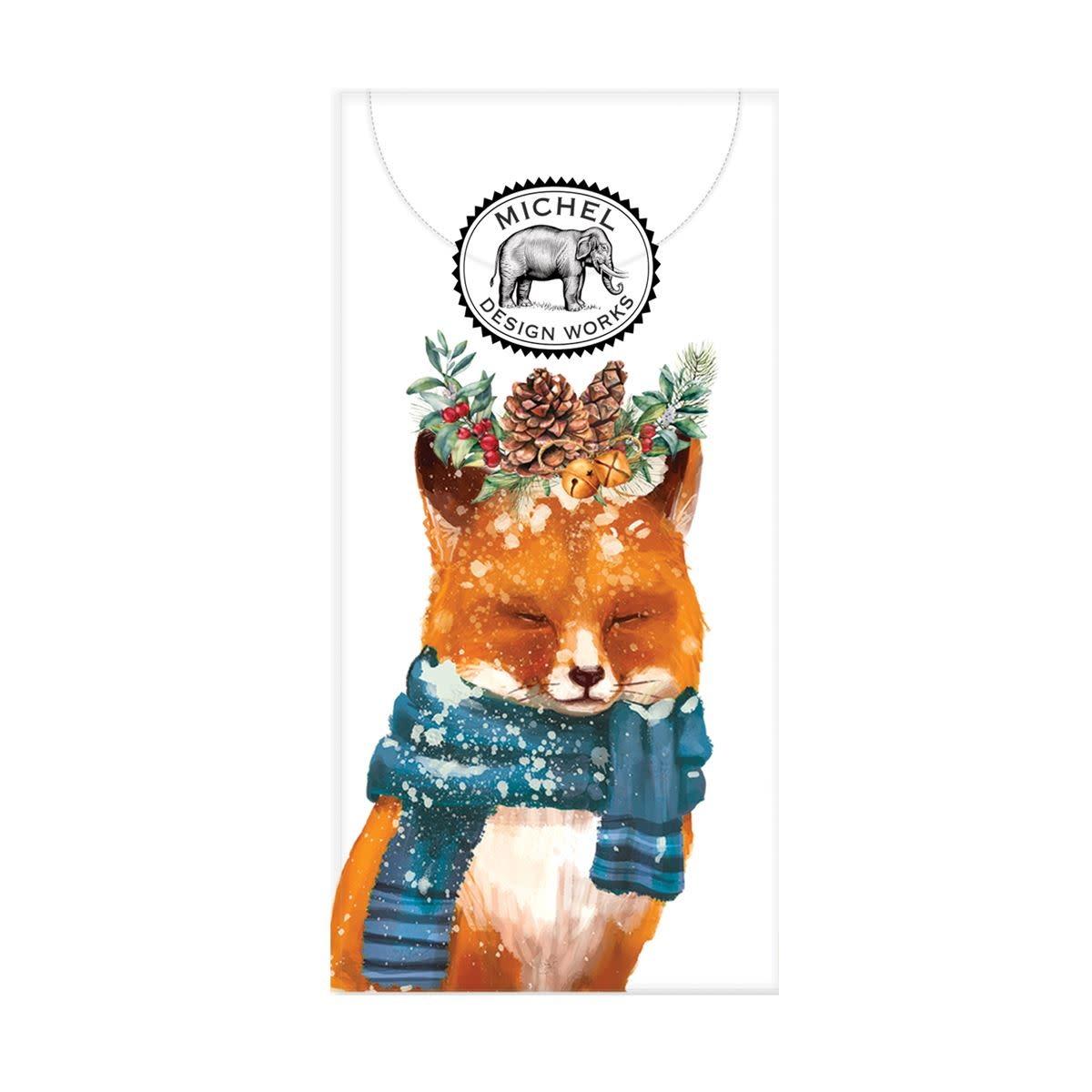 Michel Design Works Christmas Fox Pocket Tissues