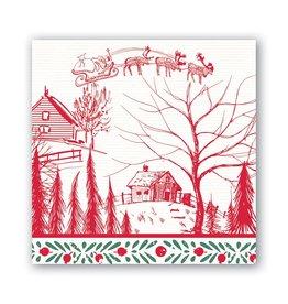 Michel Design Works Santa's Eve Cocktail Napkin