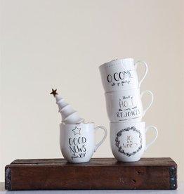 Fleurish Home Black & Gold Holiday Mug (choice of 4 designs)