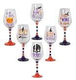 Fleurish Home Halloween Wine Glass (choice of 6 styles)