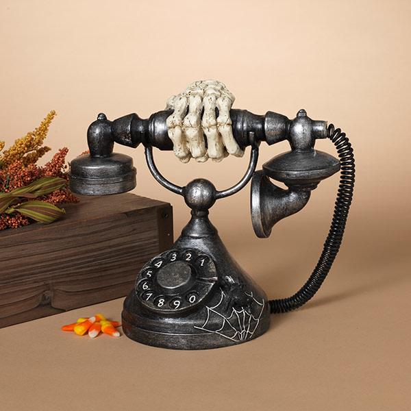 Fleurish Home Antique Telephone w/ Skeleton Hand (sounds)