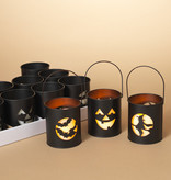 """Fleurish Home Halloween Luminary w/ 3""""H Candle & Timer(choice of 3 styles)"""