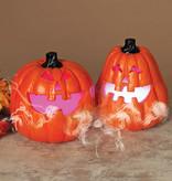 Fleurish Home Electric Lighted Pumpkin w/ Smoking Effect (choice of 2 styles)