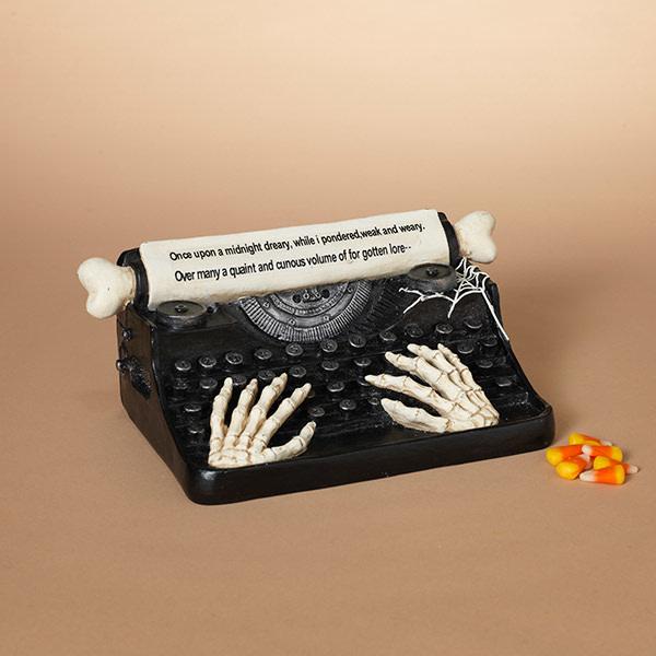 Fleurish Home Halloween Typewriter w/ Skeleton Hands (sounds)