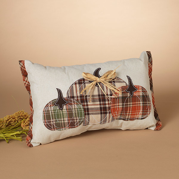 Fleurish Home Harvest Pumpkin Design Pillow