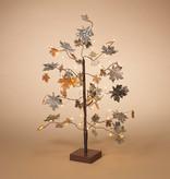 """Fleurish Home 24"""" Micro LED Lighted Metal & Cork Leaf Tree"""