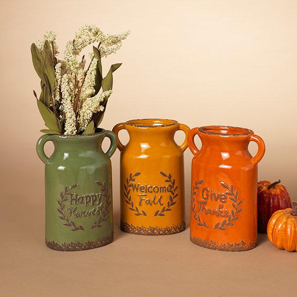 Fleurish Home Ceramic Harvest Vase (choice of 3 styles)