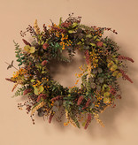 Fleurish Home Harvest Wreath w/ Berry Accent