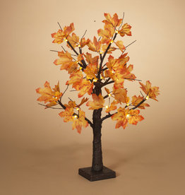 "Fleurish Home 24""H B/O Maple Leaf LED Lighted Tree"