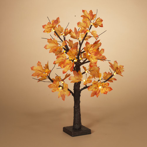 "Fleurish Home 24""H B/O Maple Leaf LED Lighted Tree"